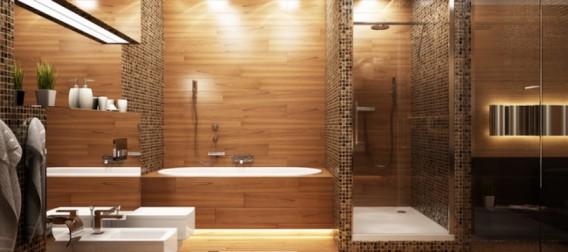 salle de bain design spot led
